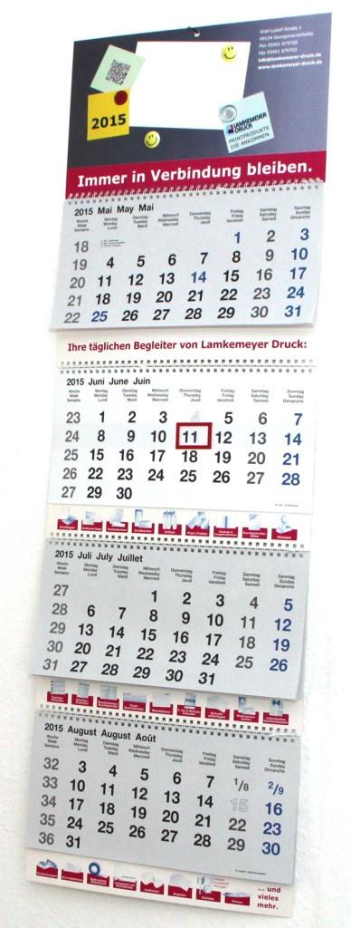 Kalender drucken 2018: 4-Monatskalender