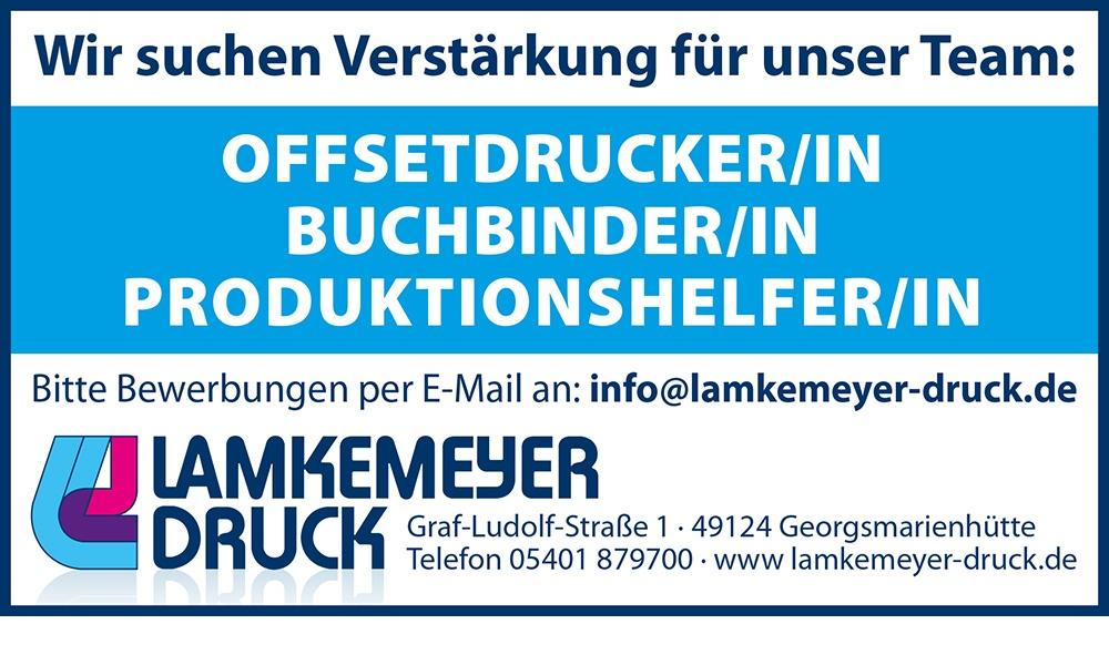 Offsetdrucker - Buchbinder - Produktionshelfer